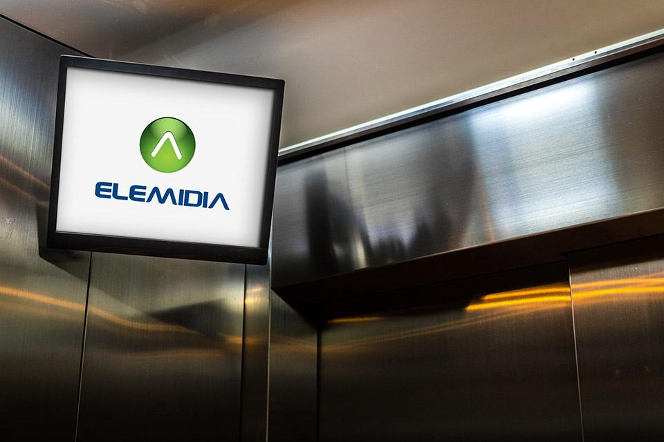 Aeroporto Executivo - Mídia no elevador